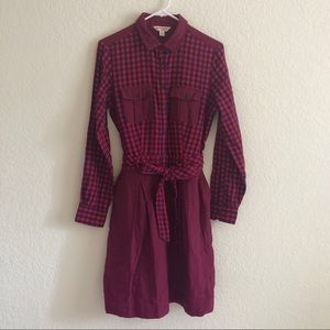 Brooks Brothers   Mixed Plaid Dress in Red